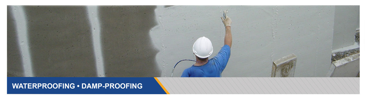 Commercial Grade Damp Proofing and Waterproofing Products for Below Grade Concrete