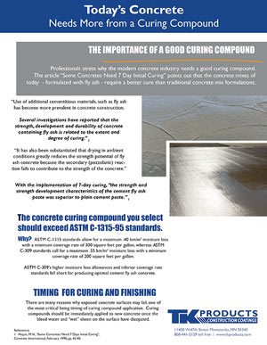 Today's Concrete Needs More by TK Products