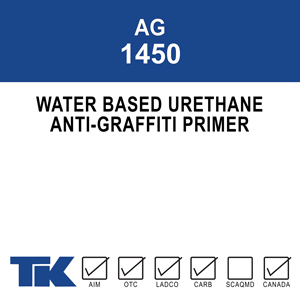 A water-based urethane prime coat for use under TK-PERMACLEAN VOC ANTI-GRAFFITI COATING to reduce/eliminate the surface darkening or color change that occurs when applied over concrete and masonry.