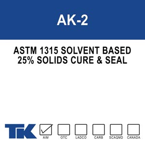 ak-2 Achro Kure 2 is the ideal concrete cure and seal for residential: sidewalks, driveways, garages, and patios.