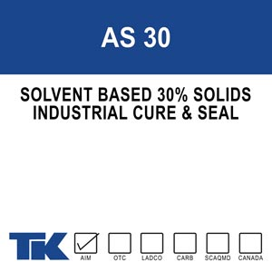 Achro Seal 30 was designed for warehouse flooring that is specified and requires a 30% solids cure and seal. AS 30 is a solvent based, clear, methacrylate/acrylic copolymer resin that does not contain waxes or oils.