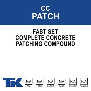 cc-patch A two-component acrylic/cement and mason sand patching compound. When combined with a liquid bonding agent, it creates a fast-setting, strong and durable patch for a variety of concrete repairs.