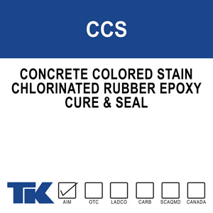 ccs High solids, pigmented, chlorinated rubber/epoxy that cures, seals and protects previously patched or mismatched concrete. TK-CCS masks surface inconsistencies while imparting a uniform and attractive finish that is protected from the elements. Available in standard colors.