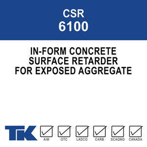 csr-6100 TK-6100 forms a hard film that chemically retards the surface and when washed away reveals an attractive exposed aggregate finish.