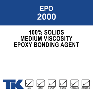 epo-2000 A two-component, 100% solids, medium viscosity, multi-purpose epoxy for high strength bonding between new and existing materials and providing crack injection repairs to a variety of surfaces.