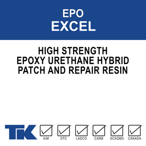 epo-excel A rapid setting, 100% solids, high strength epoxy/urethane hybrid used to repair and patch concrete in a variety of applications.