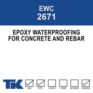 ewc-2671 A two-component, penetrating, waterproofing, epoxy resin sealant for concrete. Formulated as a preventative treatment - although it may also be used for maintenance and repair work