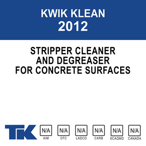 kwik-klean-2012 A versatile, multi-purpose stripper, cleaner and degreaser for concrete floors, walls, driveways, and walkways.