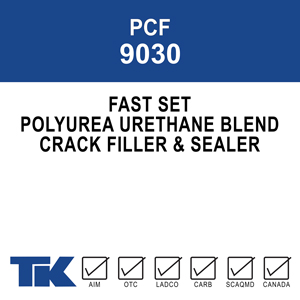 pcf-9030 A fast-setting, low viscosity, polyurea/urethane blend for penetrating and filling cracks in concrete bridge decks and slabs.