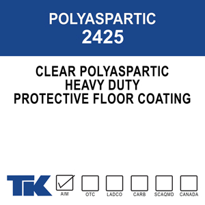 polyaspartic-2425 wbu-1900 A clear, water-based urethane specially designed for floor finishing and sealing. It provides excellent protective properties against chemicals and abrasion to surfaces where acrylic finishes fall short