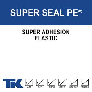 Super Seal PE is an elastic moisture curing sealant with superior adhesion when used in metal architecture, curtain wall construction and joints subject to movement. TK-Super Seal PE will not shrink, is non-slump, and can be applied vertically and overhead. Super Seal PE is paintable within 24 hours and is permits the use of anodized meatal and coatings such as Kynar 500® PVDF.