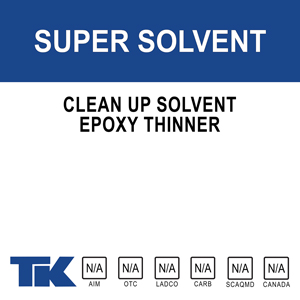 super-solvent A clean-up solvent for cleaning sprayers, tools and equipment used in concrete and masonry construction