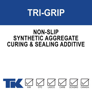 tri-grip A synthetic aggregate made up of clear polypropylene spheres that create a subtly textured, slip-resistant surface on new or existing concrete and masonry surfaces.