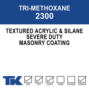 """tri-methoxane-2300 A single-component coating designed to protect """"severe duty"""" surfaces from the abuse of everyday traffic, road maintenance equipment and harsh salt applications"""