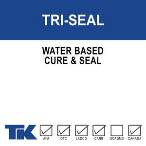tri-seal A 100% water-based, high solids acrylic resin compound for curing, sealing, protecting and dust proofing new or existing concrete and masonry surfaces. TRI-SEAL 1315 is also formulated to seal many types of porous tile and resilient floors.