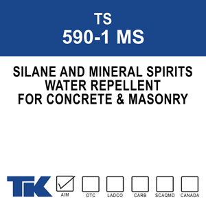 ts-590-1-ms One component, deep penetrating water repellent consisting of silane in mineral spirits for protecting concrete and masonry