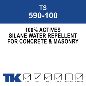 ts-590-100 A one-component, 100% active, high performance, deep penetrating silane water repellent for concrete and masonry