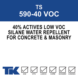 ts-590-40-voc A 40% active, single-component, invisible waterproofing treatment for concrete and masonry