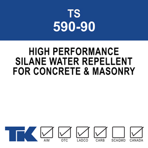ts-590-90 A one-component, high performance, deep penetrating silane water repellent for concrete and masonry