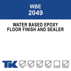 wbe-2049 A two-component, self-priming epoxy coating for concrete and steel applications where maximum durability and chemical resistance are needed. The high-gloss finish is available in both clear and colored formulations.