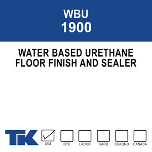 wbu-1900 A clear, water-based urethane specially designed for floor finishing and sealing. It provides excellent protective properties against chemicals and abrasion to surfaces where acrylic finishes fall short