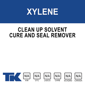 xylene A clean-up solvent for cleaning sprayers, tools, and equipment used in concrete and masonry construction