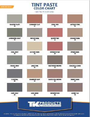 TINT PASTE COLOR CHART