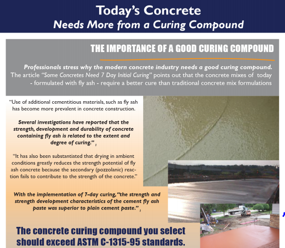 Concrete Cure And Seal Facts