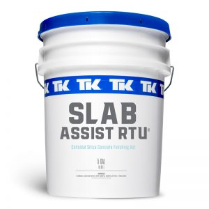 1 and 5 Gallon TK-Slab-Assist RTU Ready to Use Concrete Finishing Aid