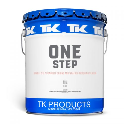 Single Step Clear Penetrating Concrete Cure, Seal, for Weatherproofing for New - Existing Cement - ONE STEP™