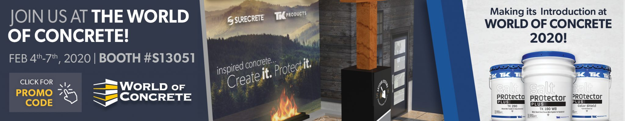 World of Concrete 2020 SureCrete and TK Products